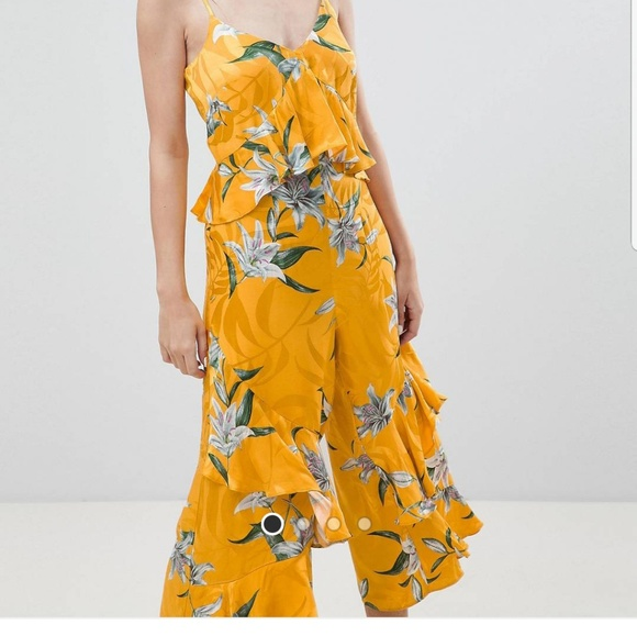 ffe9e503b836a1 River Island Other | Floral Jumpsuit Size 14 | Poshmark